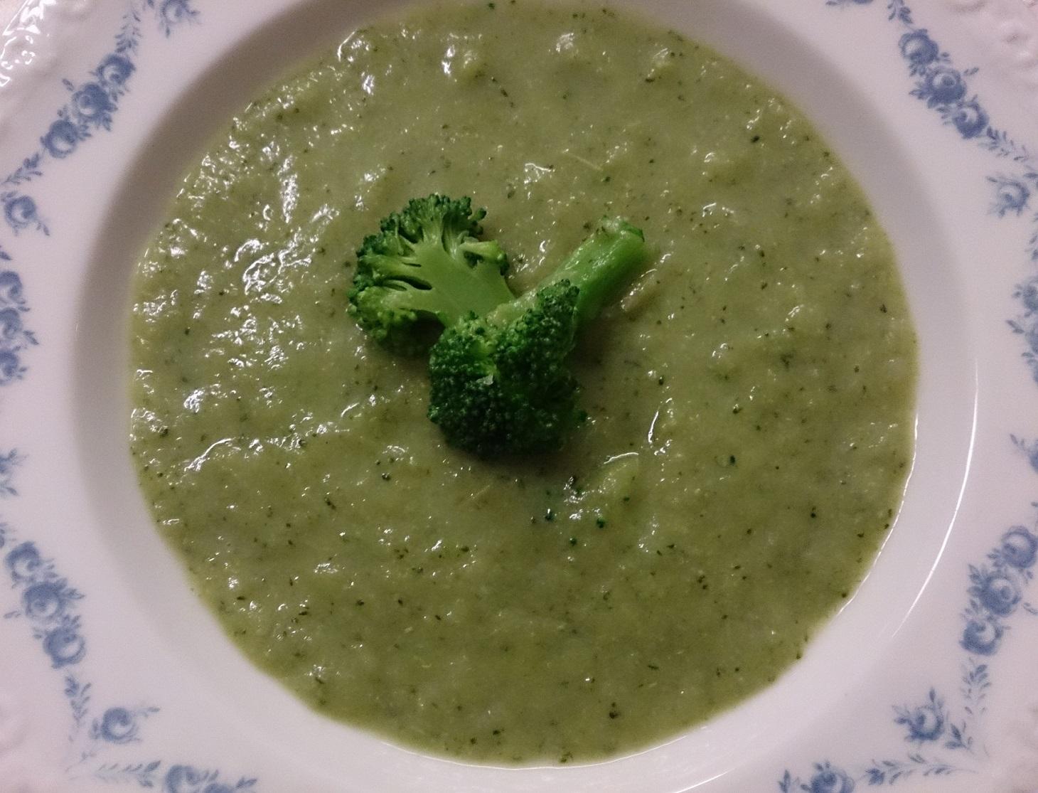 Soppa på broccoli och blomkål