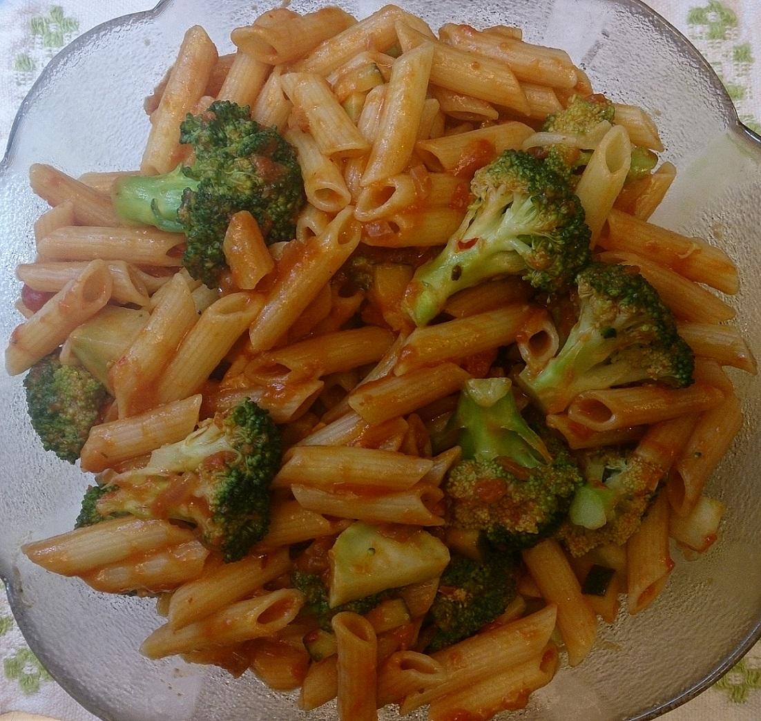 Höstpasta med broccoli